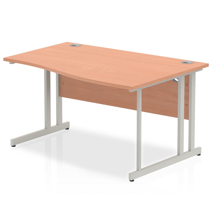 Impulse Cantilever 1400 Right Hand Wave Desk