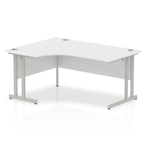 Executive Impulse Cantilever 1600 Left Hand Crescent Desk