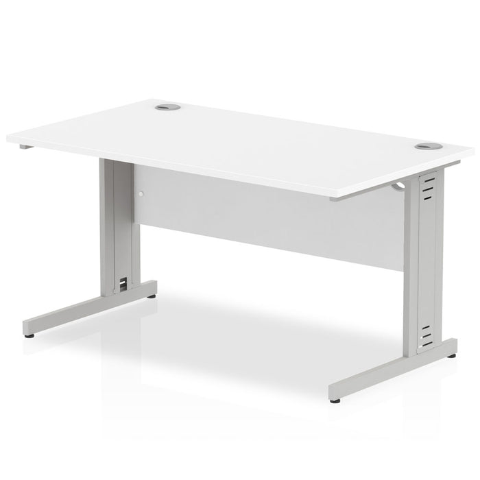 Executive Impulse Cable Managed 1400 Rectangle Desk