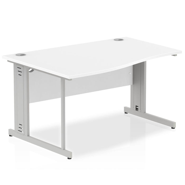 Executive Impulse Cable Managed 1400 Left Hand Wave Desk