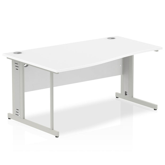 Executive Impulse Cable Managed 1600 Left Hand Wave Desk