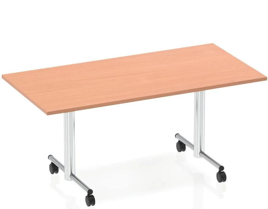 Impulse 1600 Flip Top Rectangular Table Beech