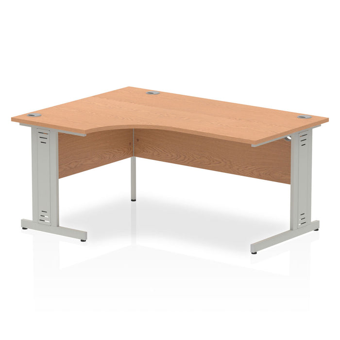 Impulse Cable Managed 1600 Left Hand Crescent Desk
