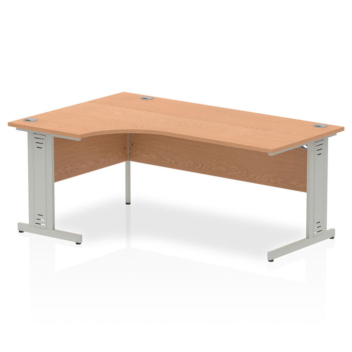 Impulse Cable Managed 1800 Left Hand Crescent Desk