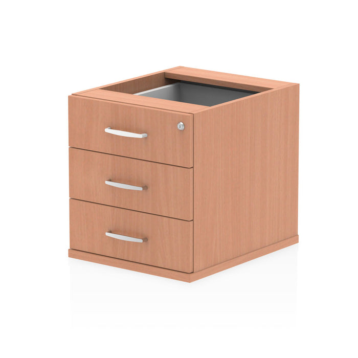 Impulse Fixed Pedestal 3 Drawer - 440w x 550d x 410h (mm)