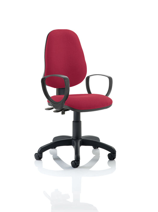 Eclipse II Lever Task Operator Chair With Loop Arms