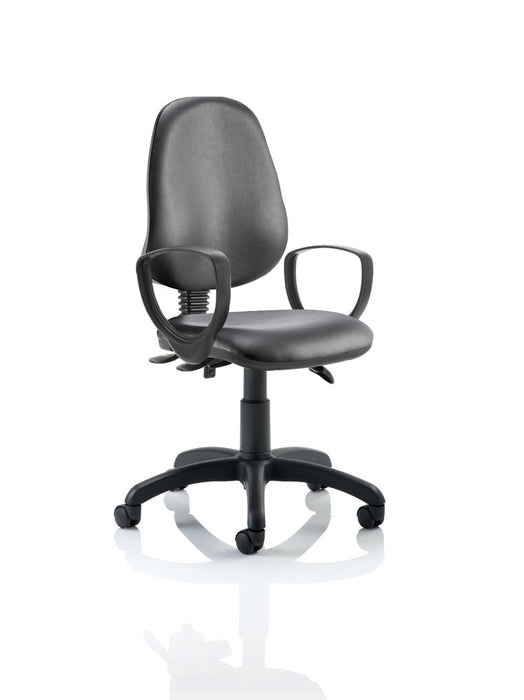 Eclipse III Lever Task Operator Chair Vinyl Black