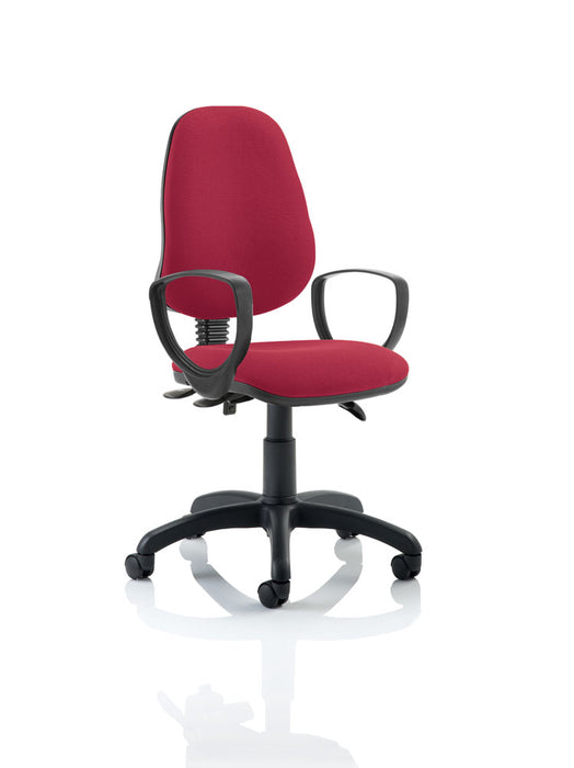 Eclipse III Lever Task Operator Chair With Loop Arms