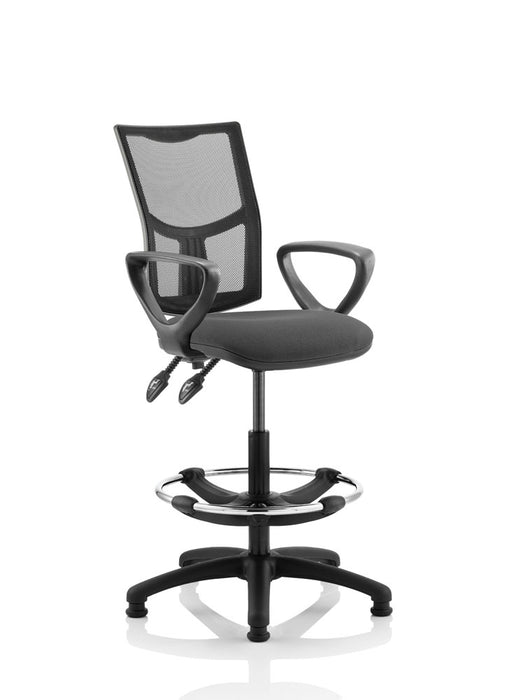 Eclipse II Lever Task Operator Chair Mesh Back With loop Arms With Hi Rise Draughtsman Kit