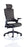 "Molet ""Task Exec"" Black Frame Black Fabric Chair With Black Fabric Headrest"