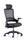 "Molet ""Task Exec"" Black Frame Black Mesh Back Black Fabric Seat Chair"