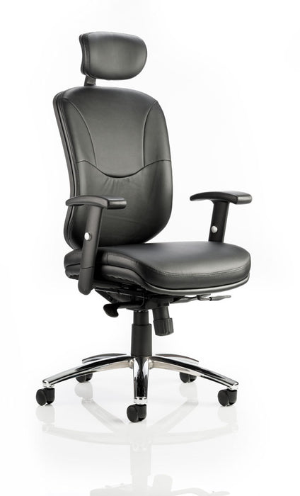 Mirage II Executive Chair Black Leather With Arms