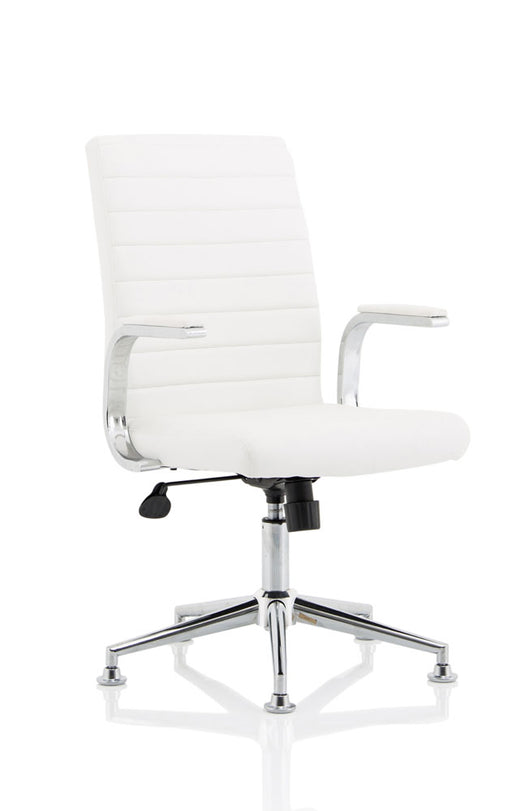 Ezra Executive Leather Chair with Chrome Glides