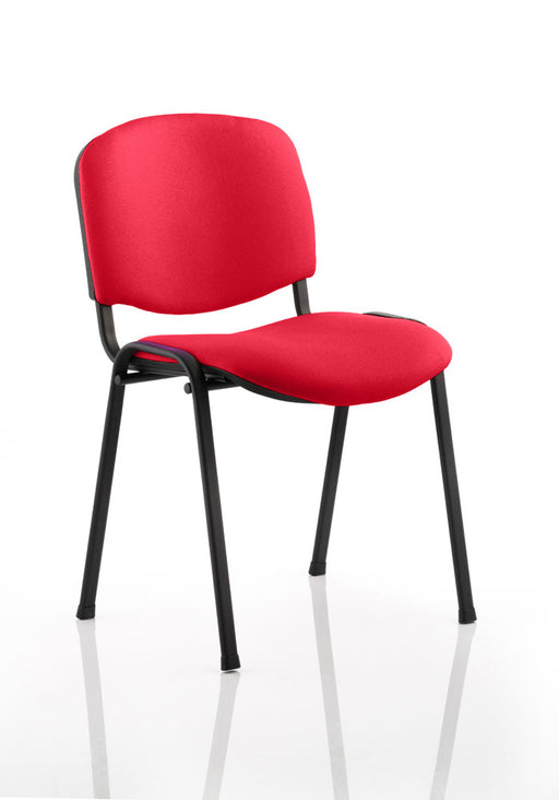 ISO Black Frame Bespoke Colour Fabric - 4 Chairs
