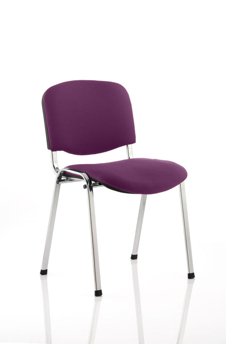 ISO Chrome Frame Bespoke Colour Fabric - 4 Chairs