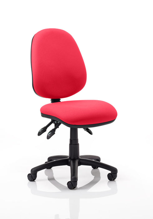 Luna III Lever Task Operator Chair Bespoke Colour Seat Deluxe