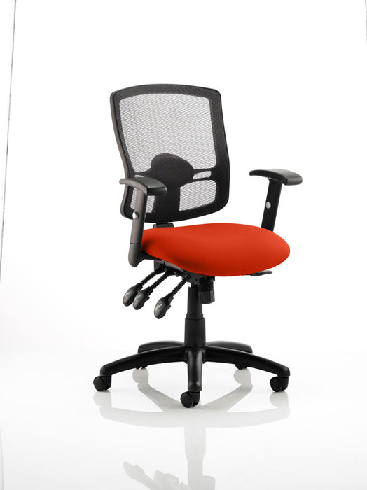Portland III Black Mesh Back Bespoke Colour Seat