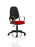 Eclipse I Lever Task Operator Chair Black Back Bespoke Seat With Loop Arms