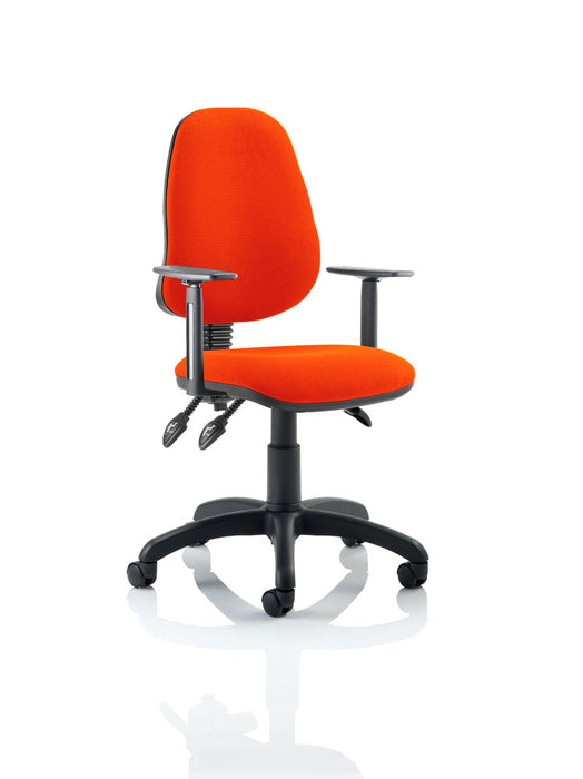 Eclipse III Lever Task Operator Chair Bespoke With Height Adjustable Arms