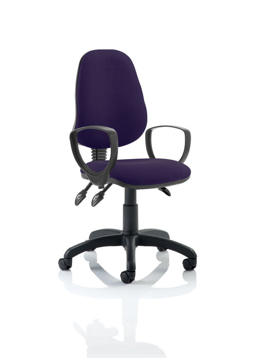 Eclipse III Lever Task Operator Chair Bespoke With Loop Arms