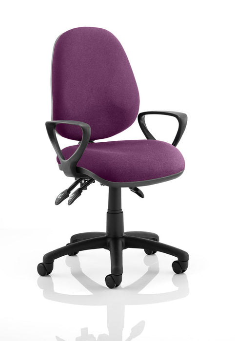 Luna III Lever Task Operator Chair Bespoke With Loop Arms