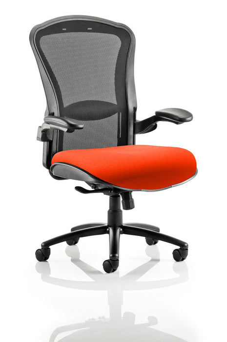Houston Heavy Duty Task Operator Chair Black Mesh Back Bespoke Seat