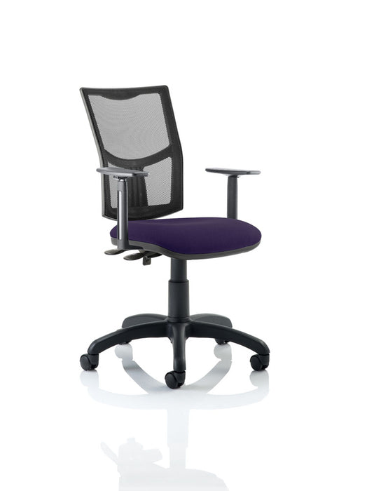 Eclipse II Lever Task Operator Chair Mesh Back With Bespoke Colour Seat in With Height Adjustable Arms