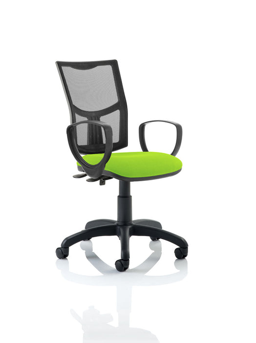 Eclipse II Lever Task Operator Chair Mesh Back With Bespoke Colour Seat With loop Arms