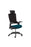 "Molet ""Task Exec"" Black Frame Black Fabric Back Chair With Black Fabric Headrest With Bespoke Colour Seat"