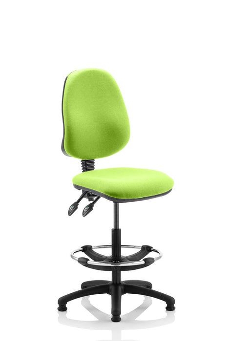 Eclipse II Lever Task Operator Chair Fully Bespoke Colour With Hi Rise Draughtsman Kit