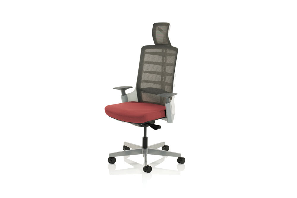 Exo Posture Chair Charcoal Grey Mesh Back With Bespoke Colour Seat