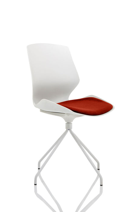 Florence Spindle White Frame Visitor Chair