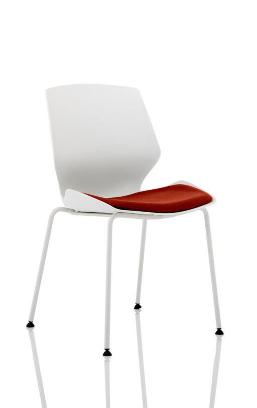 Florence White Frame Visitor Chair
