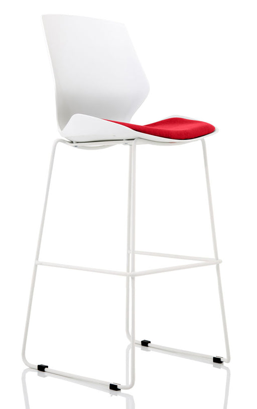 Florence White Frame High Stool
