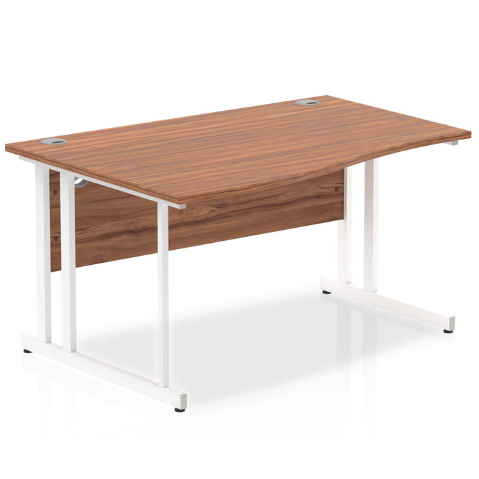 Executive Impulse 1400 Left Hand Cantilever Leg Wave Desk