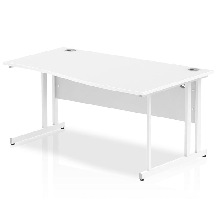 Executive Impulse 1600 Right Hand Cantilever Leg Wave Desk