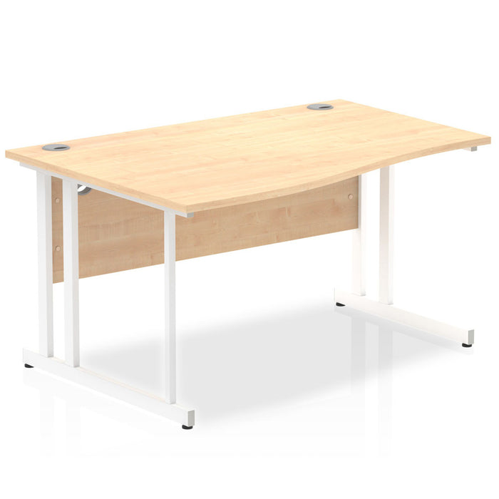 Impulse 1400 Left Hand Cantilever Leg Wave Desk
