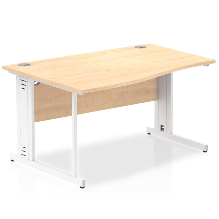 Impulse 1400 Left Hand Cable Managed Leg Wave Desk