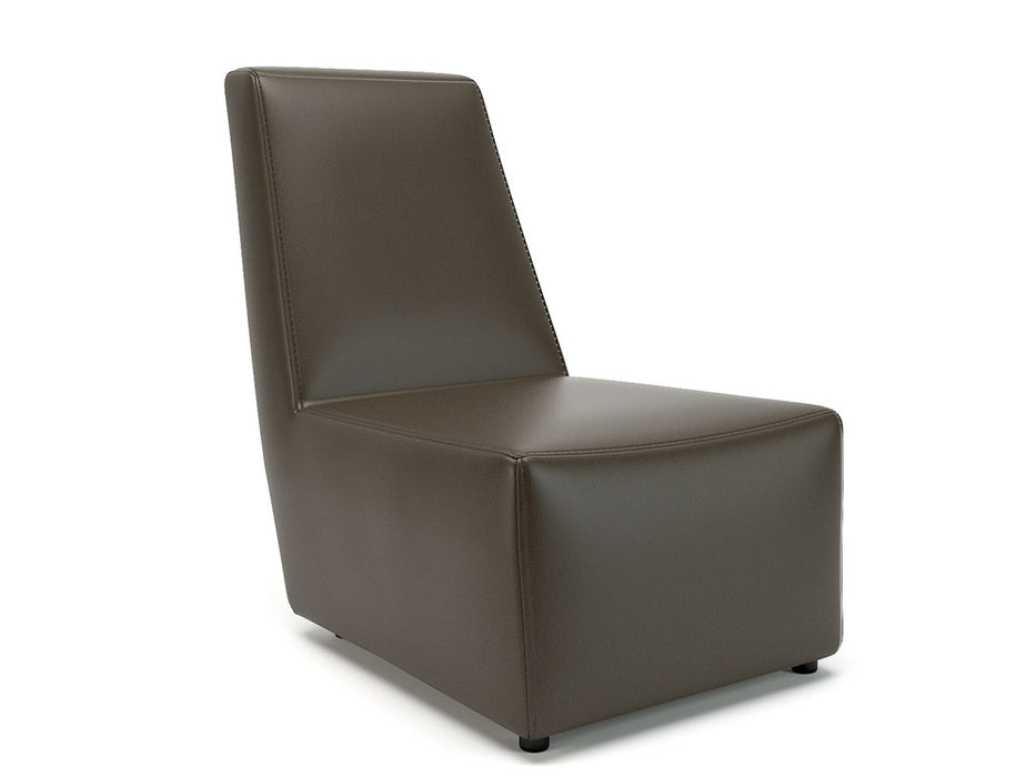 Pella 65cm Wide Chair Faux Leather Standard Feet