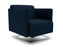 Napa Slim Arm 75cm Wide Swivel Armchair Fabric
