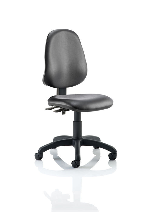 Eclipse II Lever Task Operator Chair Vinyl Black