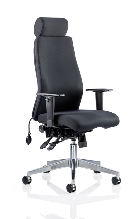 Onyx Ergo Posture Chair Black Fabric With Arms