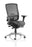 Regent Task Operator Chair Black Fabric Black Mesh Back With Arms