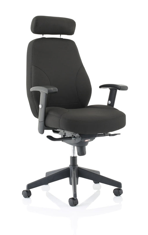 Georgia Black Fabric Executive Chair