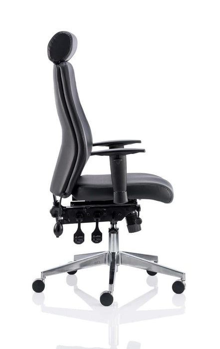 Onyx Ergo Posture Chair Blue Fabric Without Headrest With Arms