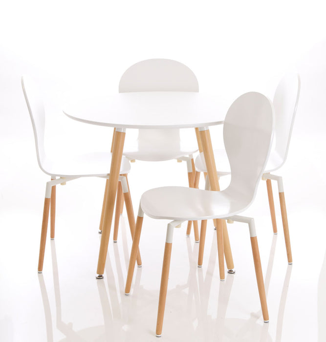 Parisian Round Table With Four Chairs