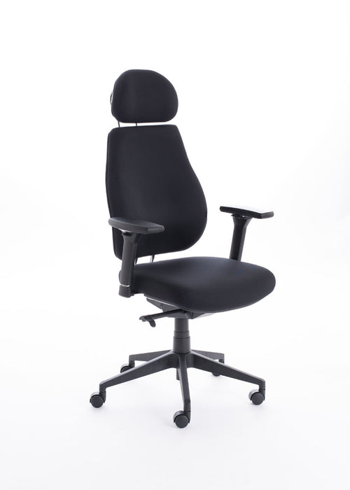 Chiro Plus Lite With Headrest Black
