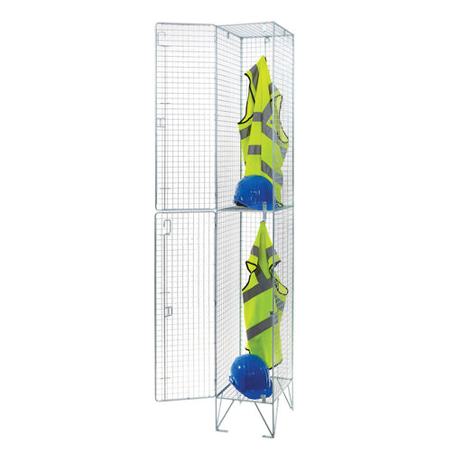 Two door Bright Steel Wire Locker