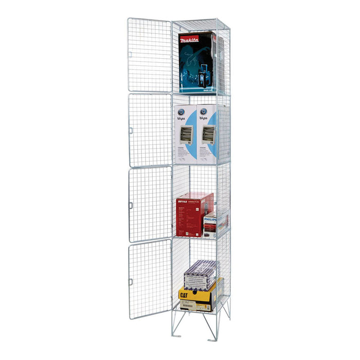 Four door Bright Steel Wire Locker