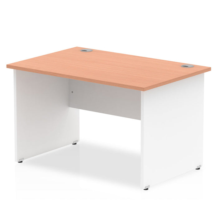 Impulse Panel End 1200 Rectangle Desk Top White Panels